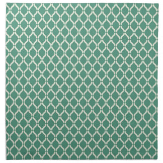 Green Geometric Pattern Napkin