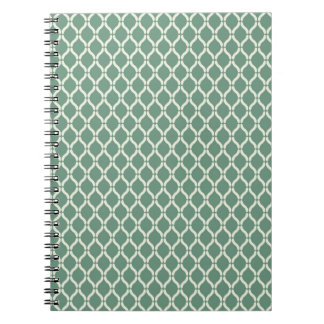 Green Geometric Pattern Notebook