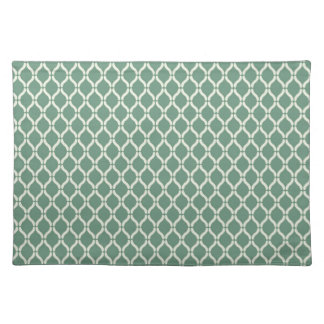 Green Geometric Pattern Placemat