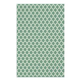 Green Geometric Pattern Stationery