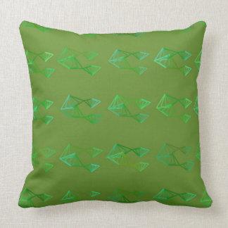 Green Geometric Shapes Pillow