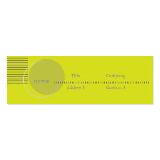 Green Geometric - Skinny Pack Of Skinny Business Cards