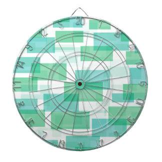 Green geometrical squares pattern dartboard