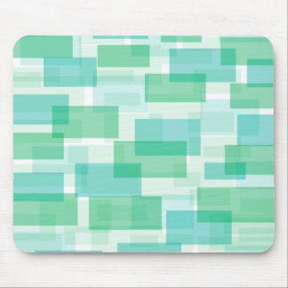 Green geometrical squares pattern mouse pad