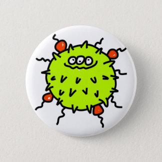 Green Germ 2 Inch Round Button