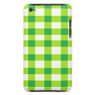 Green Gingham Barely There iPod Cover