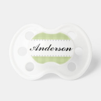 Green Gingham Boys Pacifiers