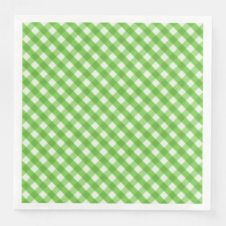 Green Gingham Disposable Napkin