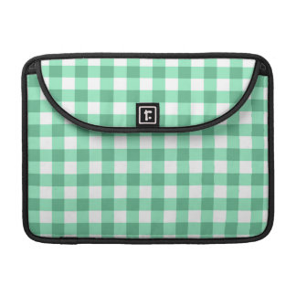 Green Gingham Pattern Sleeve For MacBooks