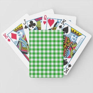 Green Gingham Poker Deck