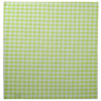 Green Gingham Printed Napkin