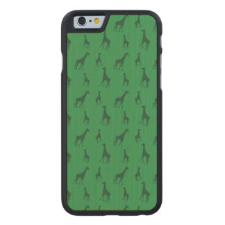 Green giraffes carved® maple iPhone 6 case