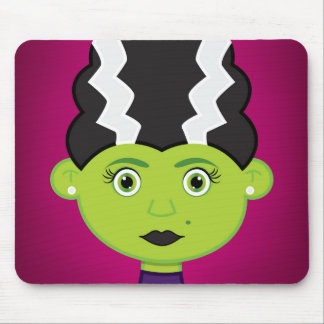 Green girl monster mouse pad