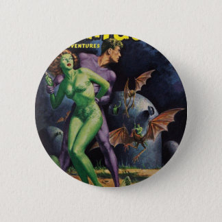 Green Girl vs Duck Bats 2 Inch Round Button