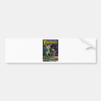 Green Girl vs Duck Bats Bumper Sticker