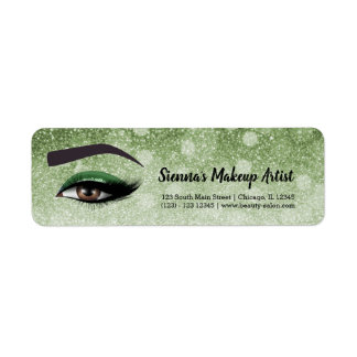 Green glam lashes eyes | makeup artist