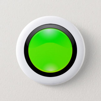 Green Glass 2 Inch Round Button