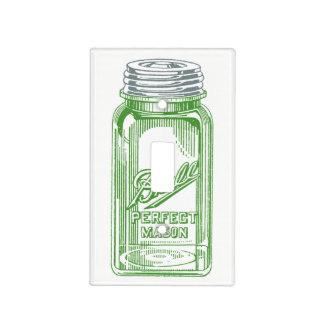 Green Glass Ball Jar Light Switch Cover