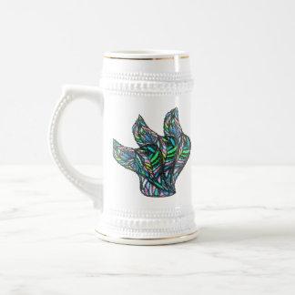 Green Glass Flow Beer Stein