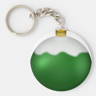 Green Glass Globe Christmas Ornament Keychains