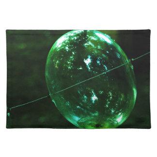 Green Glass Raindrop Placemat