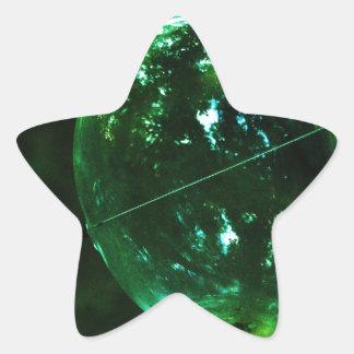 Green Glass Raindrop Star Sticker