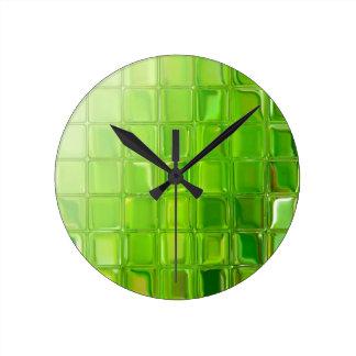 Green glass tiles clocks