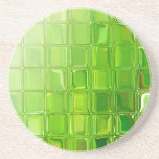 Green glass tiles coaster