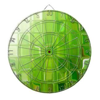 Green glass tiles dartboard