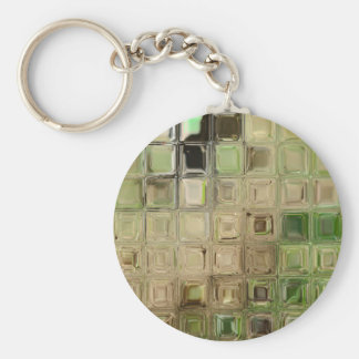 Green glass tiles keychain