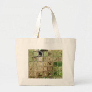 Green glass tiles large tote bag