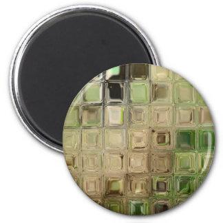 Green glass tiles magnet