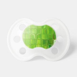 Green glass tiles pacifier