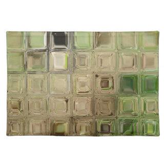Green glass tiles placemat