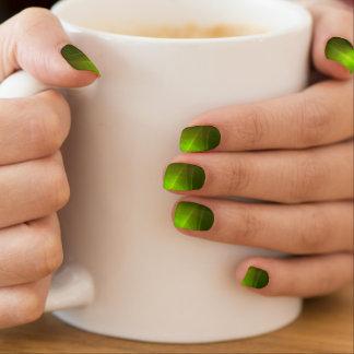 Green Gleaming Reflections Minx Nail Art