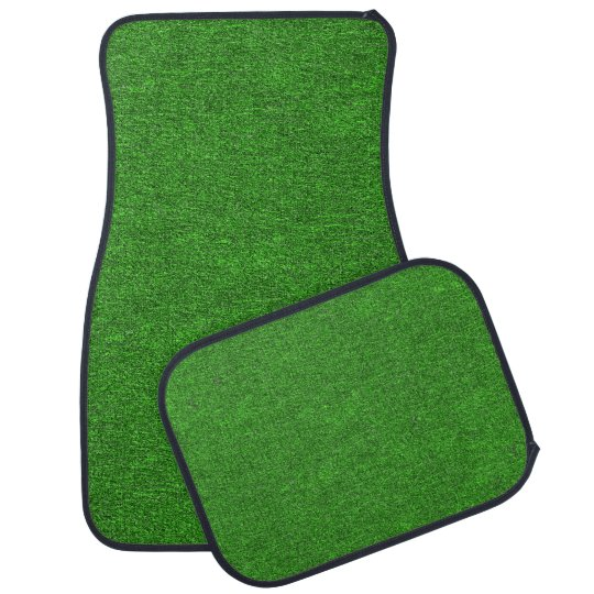 Green Glimmer Grass Look Auto Mat