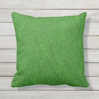 Green Glimmer Throw Pillow