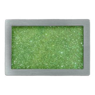 Green Glitter Abstract Texture Belt Buckles