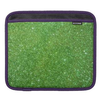 Green Glitter Abstract Texture iPad Sleeve