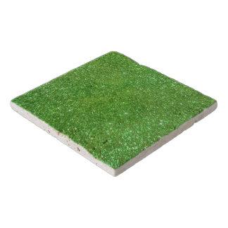 Green Glitter Abstract Texture Trivet