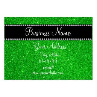 Green glitter bling business card template