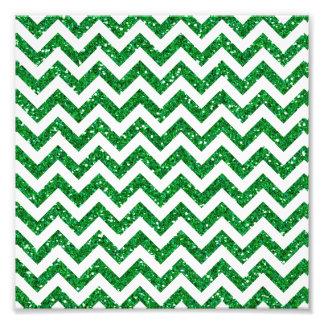 Green Glitter Chevron Pattern Photograph