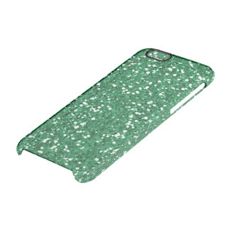 Green glitter clear iPhone 6/6S case