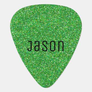 Green Glitter Guitar Pick
