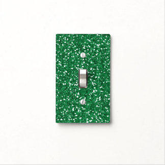 Green glitter light switch cover