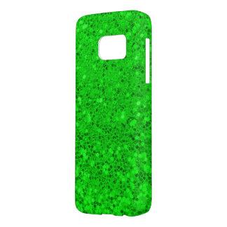 green glitter macro samsung galaxy s7 case