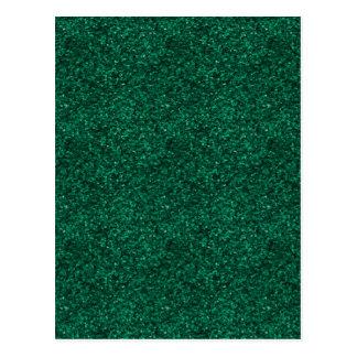 Green Glitter Postcard