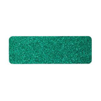 Green Glitter Return Address Label