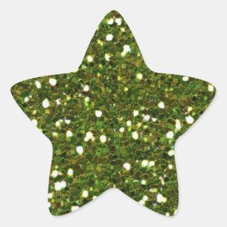 Green Glitters Sticker