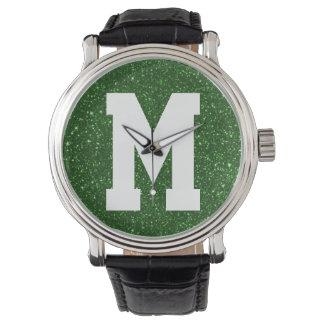 Green Glitz Superstar Monogram Watch